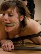 Tightly Bound Brunette from Hogtied